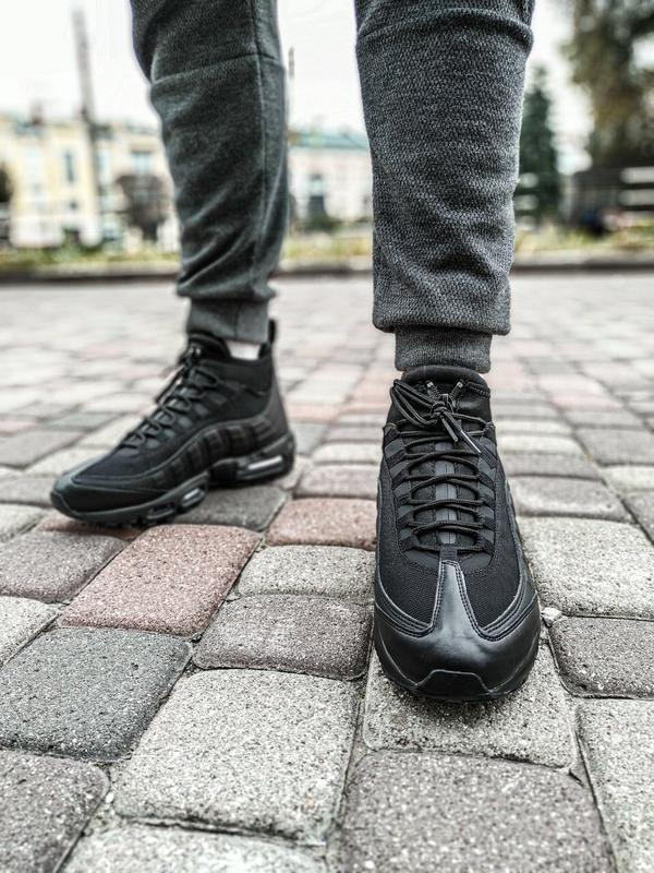 😊nike air max 95 sneakerboot winter🤗 мужские ботинки термо зимние - Фото 4