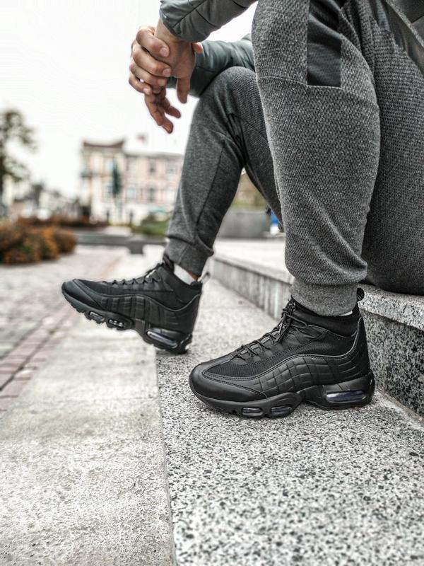 😊nike air max 95 sneakerboot winter🤗 мужские ботинки термо зимние - Фото 5