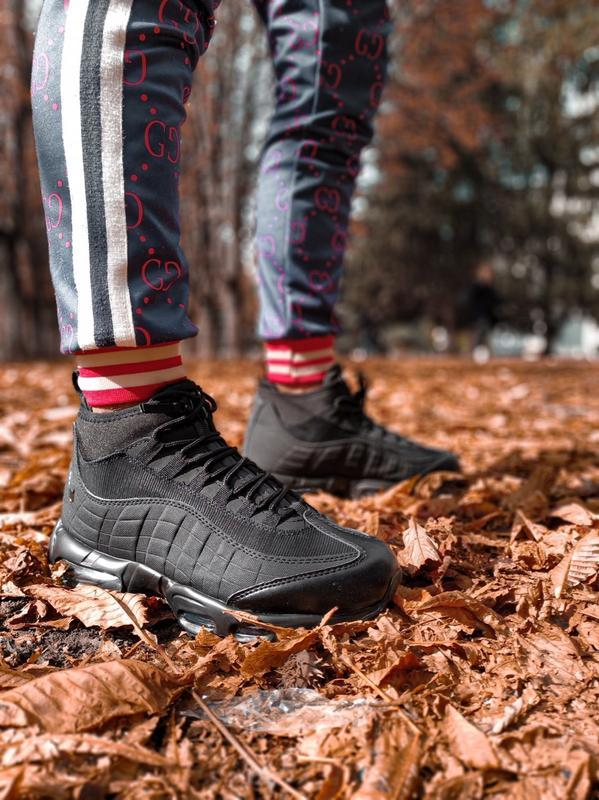 😊nike air max 95 sneakerboot winter🤗 мужские ботинки термо зимние - Фото 6