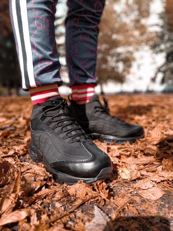 😊nike air max 95 sneakerboot winter🤗 мужские ботинки термо зимние - Фото 8