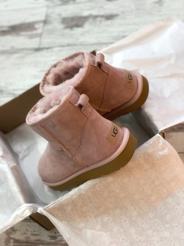 😊ugg classic ii mini pink🤗 женские сапоги угги розовые зимние ... - Фото 3