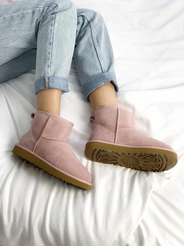 😊ugg classic ii mini pink🤗 женские сапоги угги розовые зимние ... - Фото 4
