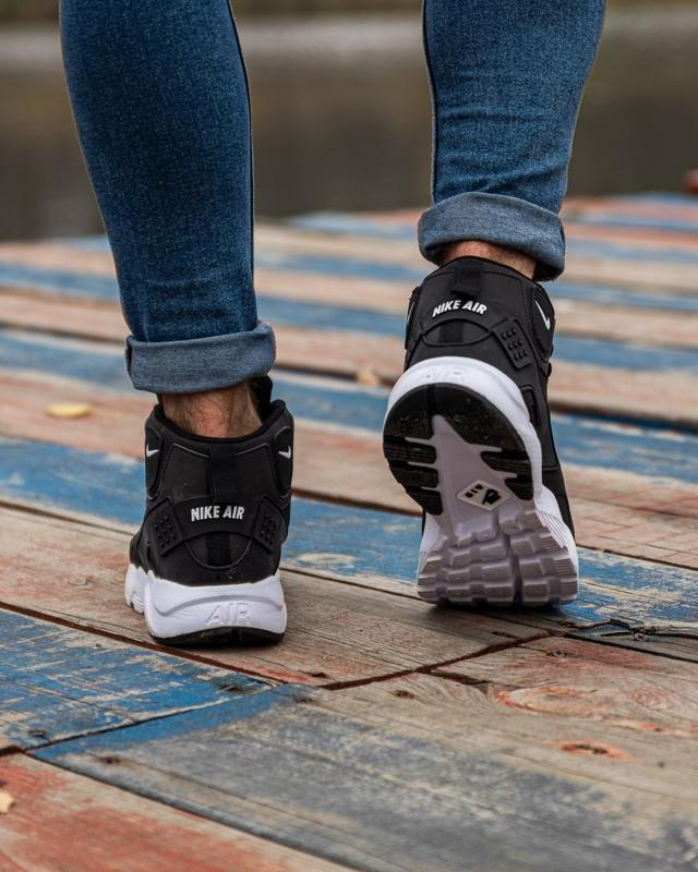 😊nike air huarache winter black white🤗 мужские кроссовки на зи... - Фото 2