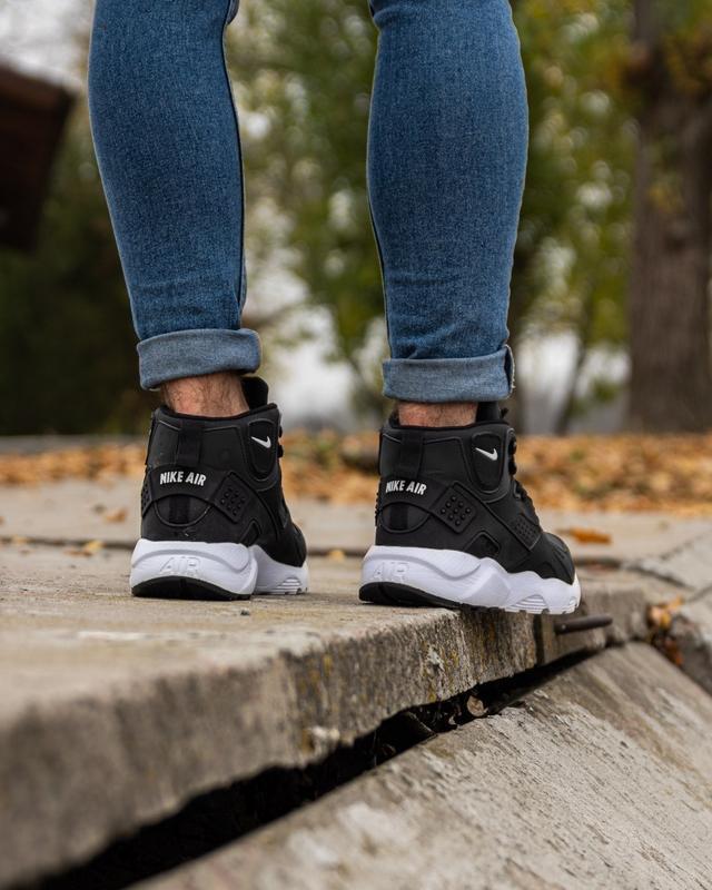 😊nike air huarache winter black white🤗 мужские кроссовки на зи... - Фото 3