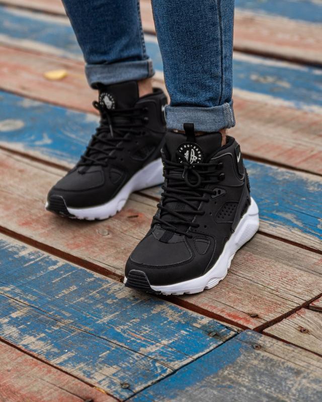 😊nike air huarache winter black white🤗 мужские кроссовки на зи... - Фото 5