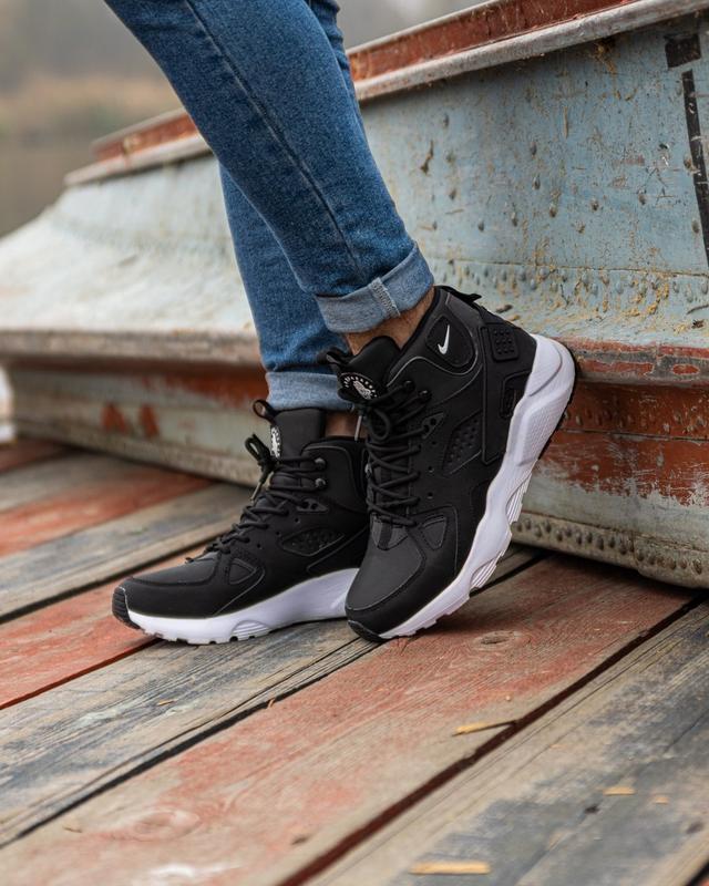 😊nike air huarache winter black white🤗 мужские кроссовки на зи... - Фото 6