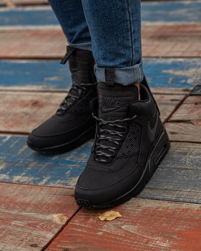 😊nike air max 90 sneakerboot black🤗 мужские кроссовки осень / ...