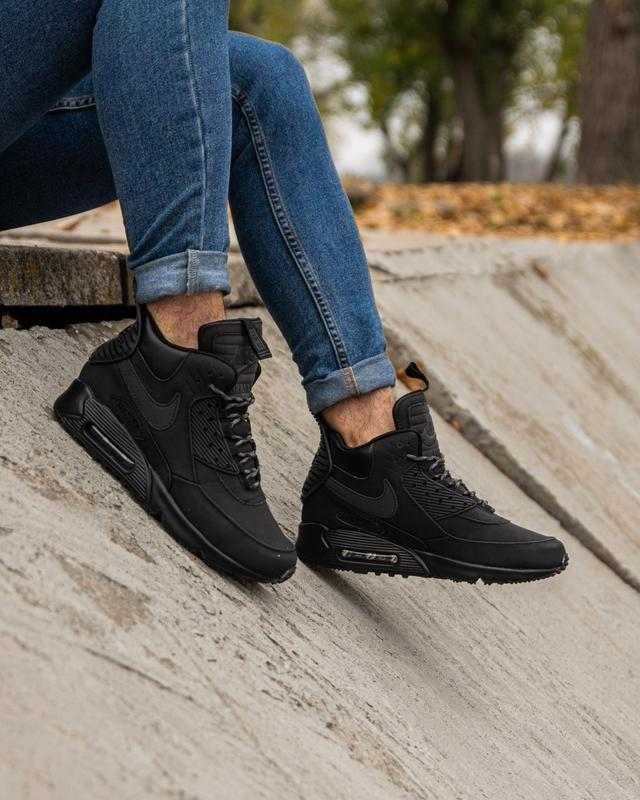 😊nike air max 90 sneakerboot black🤗 мужские кроссовки осень / ... - Фото 2