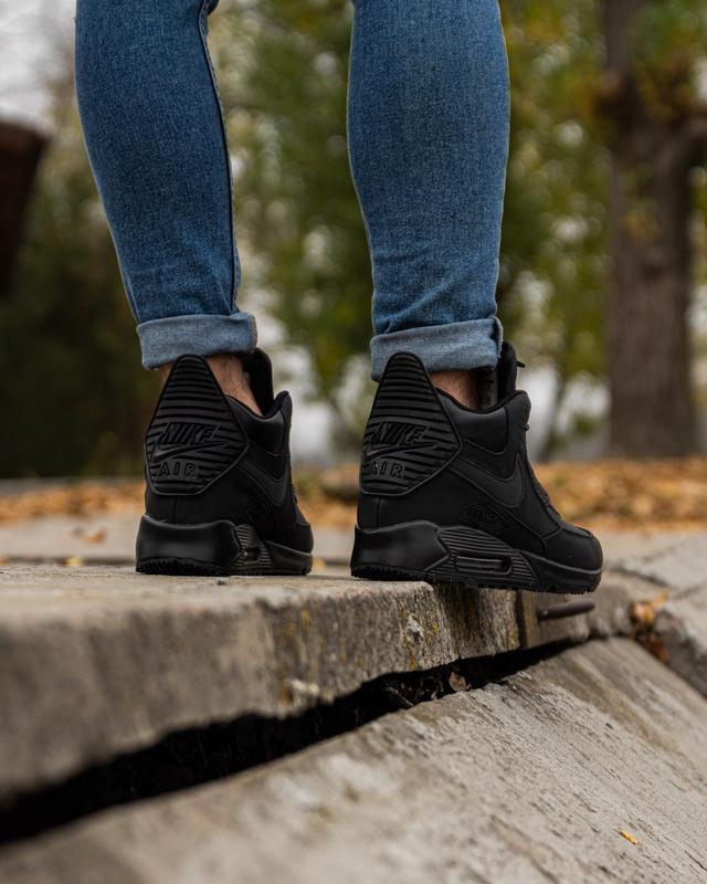 😊nike air max 90 sneakerboot black🤗 мужские кроссовки осень / ... - Фото 3