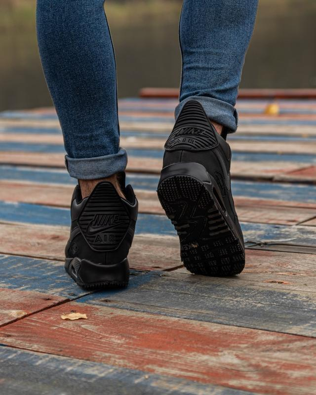 😊nike air max 90 sneakerboot black🤗 мужские кроссовки осень / ... - Фото 4