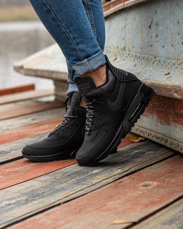 😊nike air max 90 sneakerboot black🤗 мужские кроссовки осень / ... - Фото 5