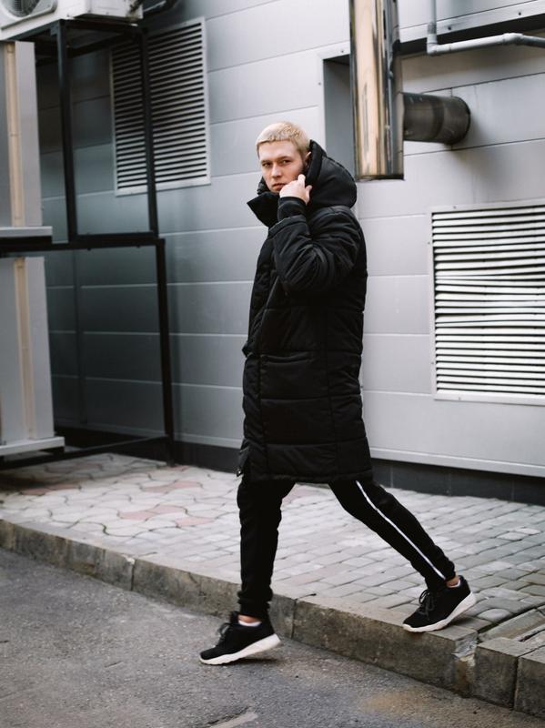 😊зимняя мужская куртка🤗 теплая чёрная удлиненная до -25 градусов! - Фото 2
