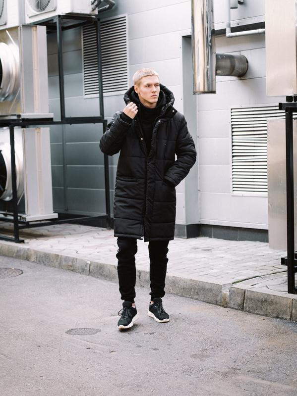 😊зимняя мужская куртка🤗 теплая чёрная удлиненная до -25 градусов! - Фото 5