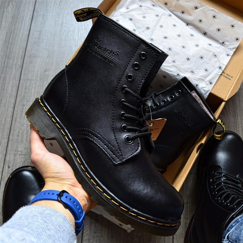 😊ботинки dr. martens 1460 fur 🤗 женские ботинки мартинсы чёрны...