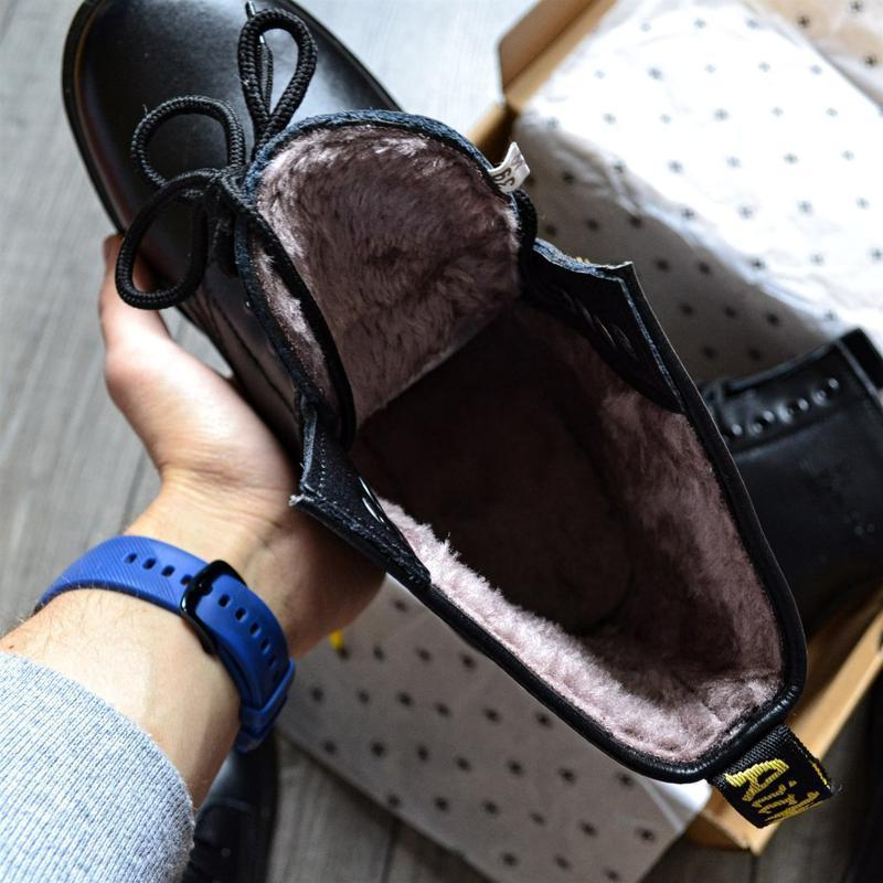 😊ботинки dr. martens 1460 fur 🤗 женские ботинки мартинсы чёрны... - Фото 2