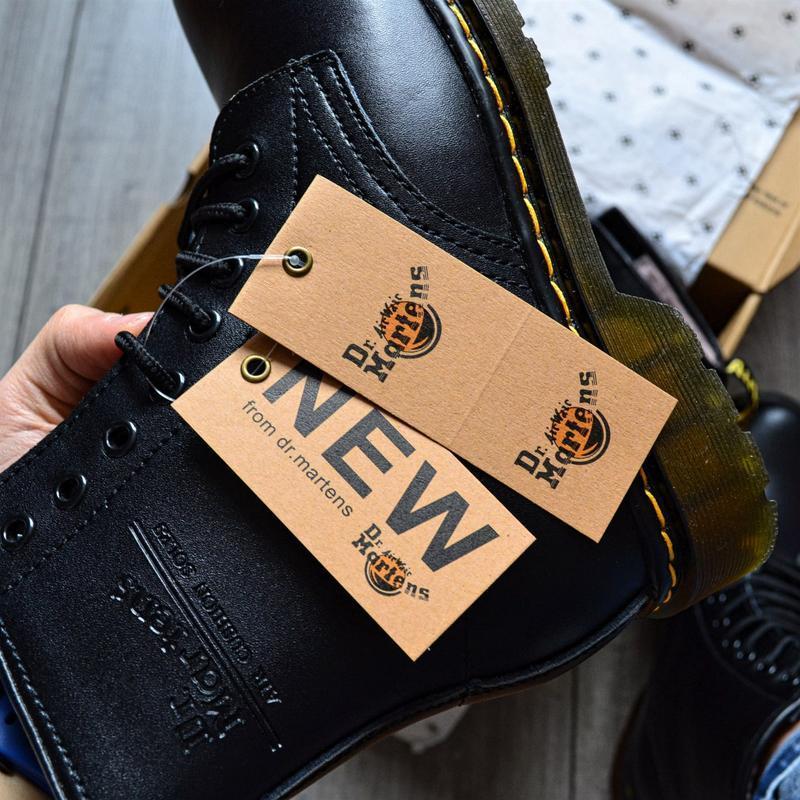 😊ботинки dr. martens 1460 fur 🤗 женские ботинки мартинсы чёрны... - Фото 3