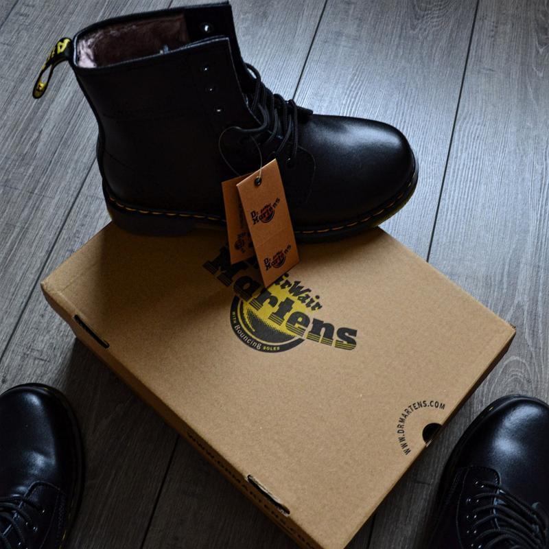 😊ботинки dr. martens 1460 fur 🤗 женские ботинки мартинсы чёрны... - Фото 5