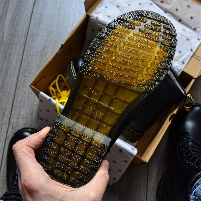 😊ботинки dr. martens 1460 fur 🤗 женские ботинки мартинсы чёрны... - Фото 6