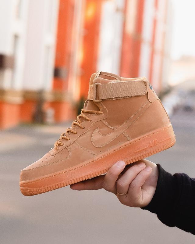 😊nike air force brown 1 high🤗 мужские кроссовки найк высокие - Фото 2