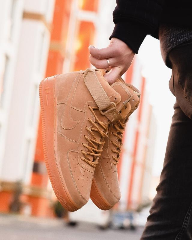😊nike air force brown 1 high🤗 мужские кроссовки найк высокие - Фото 3