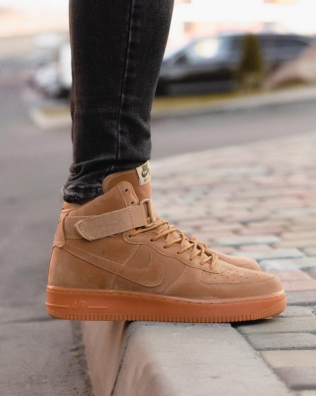 😊nike air force brown 1 high🤗 мужские кроссовки найк высокие - Фото 5