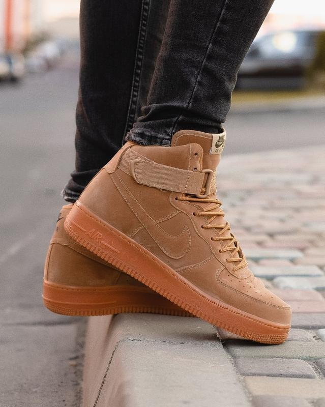 😊nike air force brown 1 high🤗 мужские кроссовки найк высокие - Фото 6