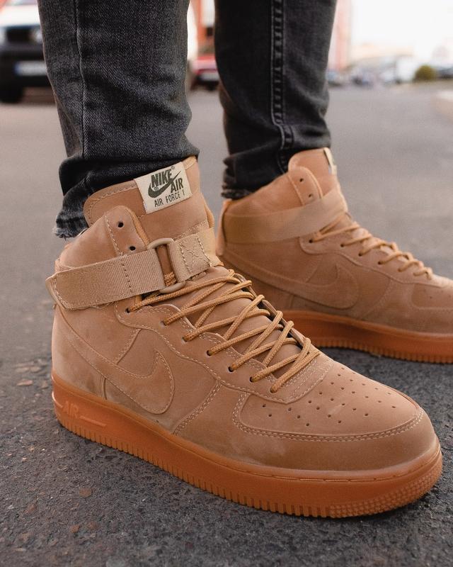 😊nike air force brown 1 high🤗 мужские кроссовки найк высокие - Фото 7