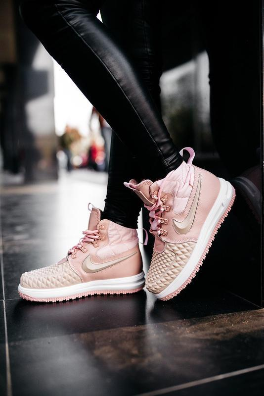 😊nike dukb00t 17 pink🤗 женские кроссовки розовые осень зима