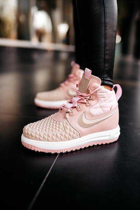 😊nike dukb00t 17 pink🤗 женские кроссовки розовые осень зима - Фото 2