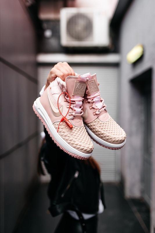 😊nike dukb00t 17 pink🤗 женские кроссовки розовые осень зима - Фото 5