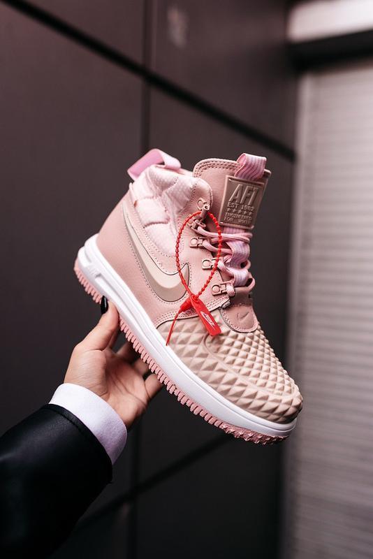 😊nike dukb00t 17 pink🤗 женские кроссовки розовые осень зима - Фото 6