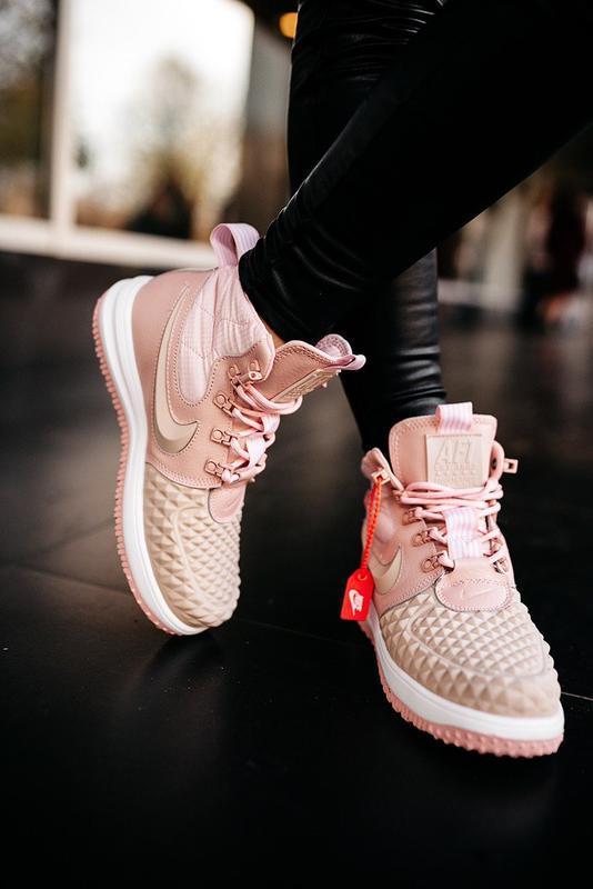 😊nike dukb00t 17 pink🤗 женские кроссовки розовые осень зима - Фото 7