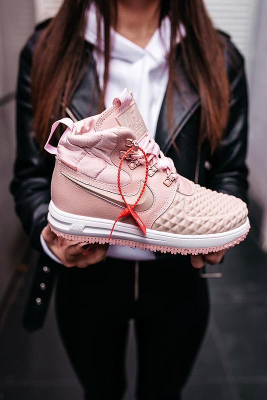 😊nike dukb00t 17 pink🤗 женские кроссовки розовые осень зима - Фото 8