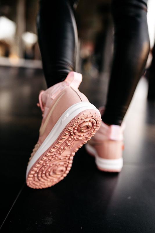 😊nike dukb00t 17 pink🤗 женские кроссовки розовые осень зима - Фото 9
