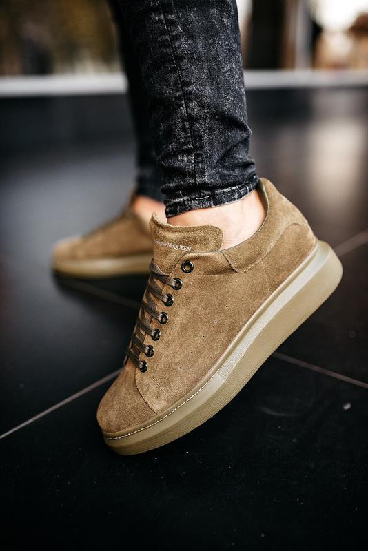 😊alexander mcqueen larry khaki🤗 мужские кроссовки кеды весне о...