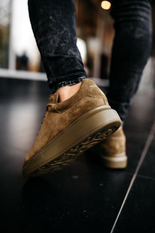 😊alexander mcqueen larry khaki🤗 мужские кроссовки кеды весне о... - Фото 3