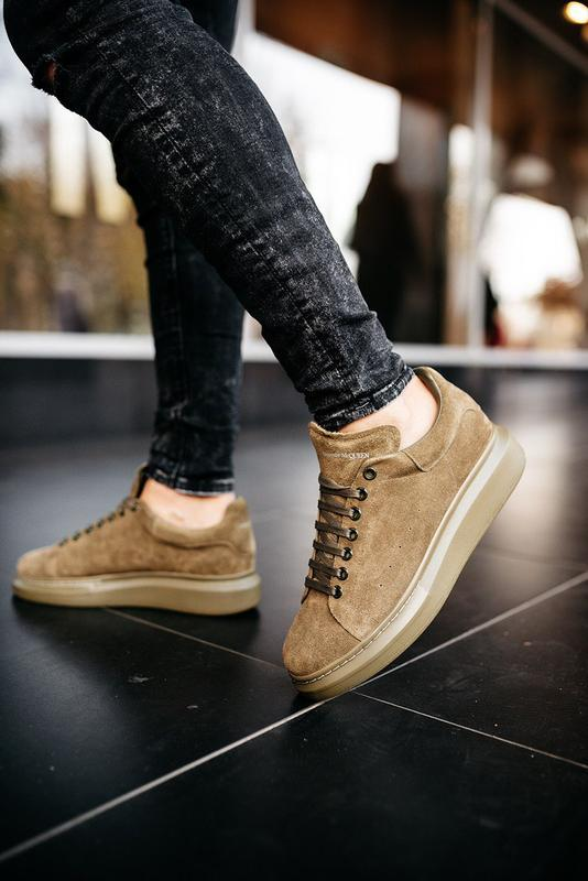 😊alexander mcqueen larry khaki🤗 мужские кроссовки кеды весне о... - Фото 4