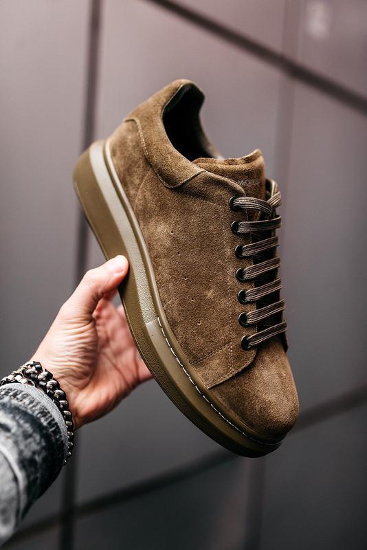 😊alexander mcqueen larry khaki🤗 мужские кроссовки кеды весне о... - Фото 6