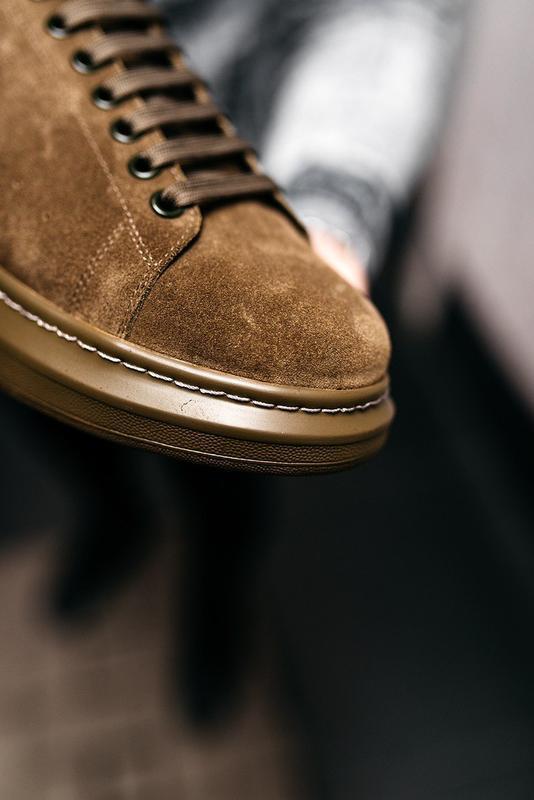😊alexander mcqueen larry khaki🤗 мужские кроссовки кеды весне о... - Фото 7