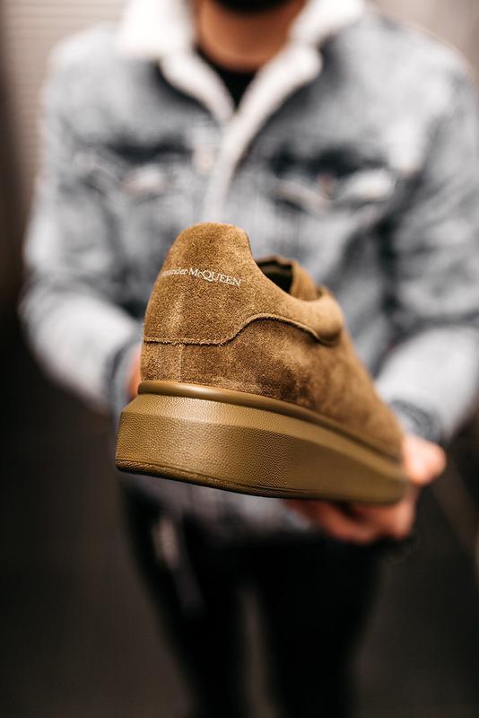 😊alexander mcqueen larry khaki🤗 мужские кроссовки кеды весне о... - Фото 8