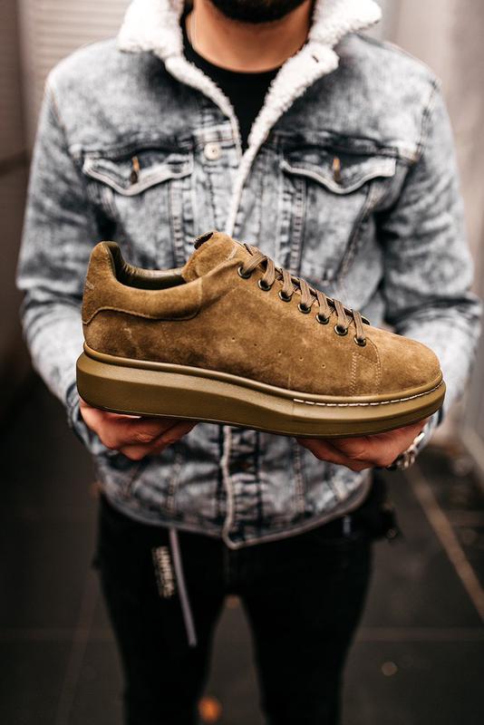 😊alexander mcqueen larry khaki🤗 мужские кроссовки кеды весне о... - Фото 9