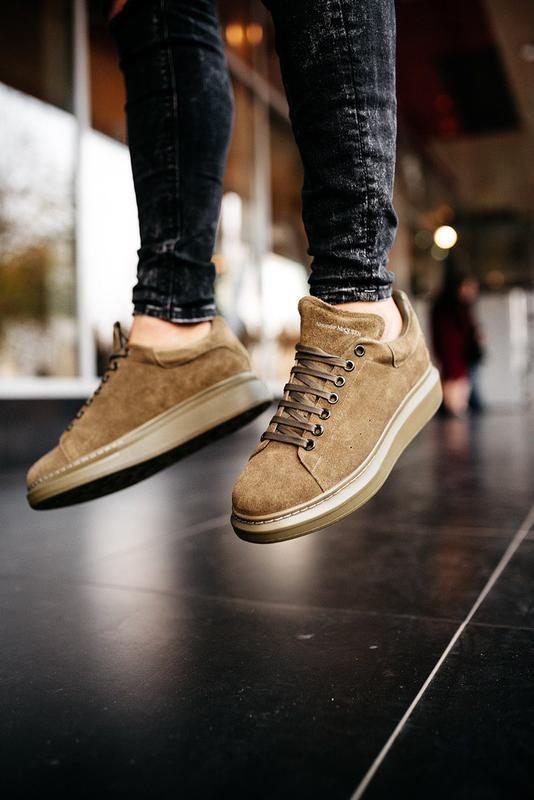 😊alexander mcqueen larry khaki🤗 мужские кроссовки кеды весне о... - Фото 10