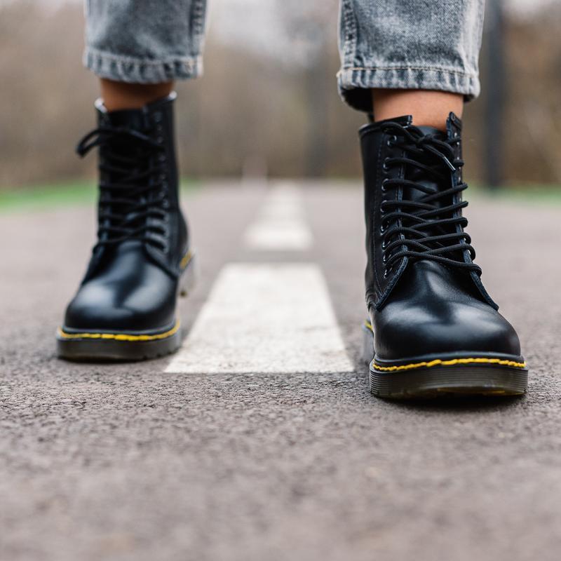 😊dr.martens 1460 black🤗 женские ботинки мартинс чёрные без мех... - Фото 2