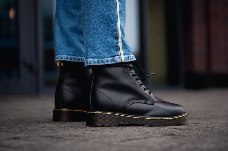😊dr. martens 1460 black fur🤗 женские ботинки мартинс с мехом ч... - Фото 4