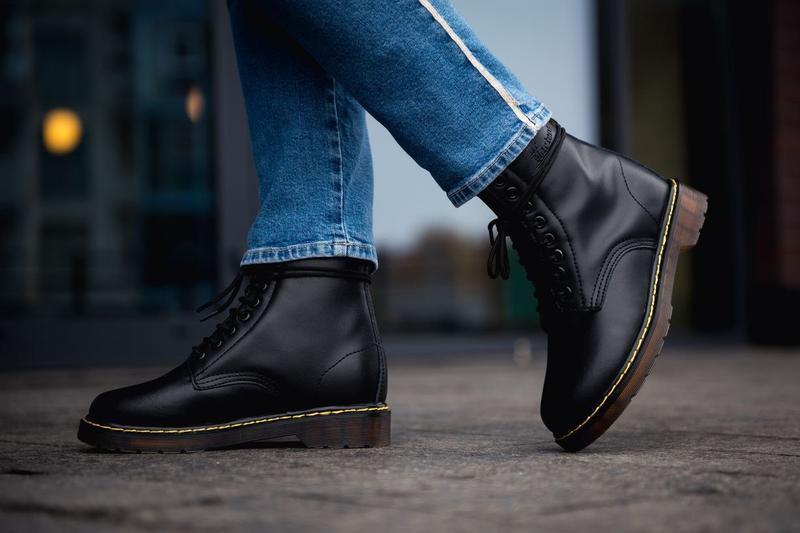 😊dr. martens 1460 black fur🤗 женские ботинки мартинс с мехом ч... - Фото 5