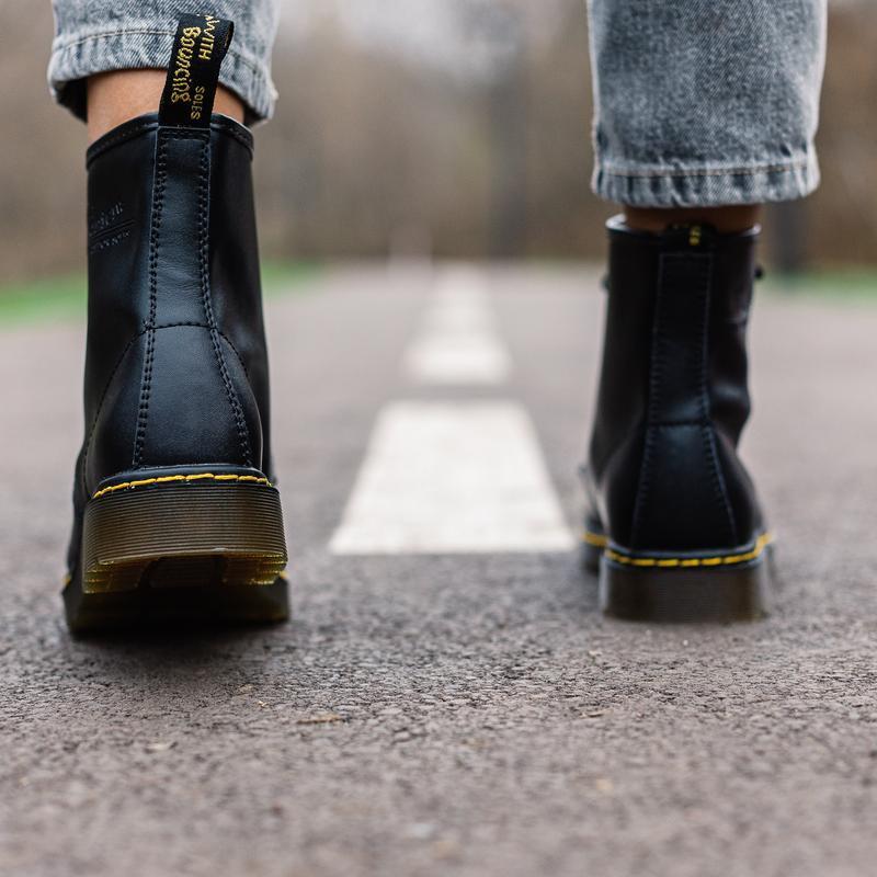 😊dr.martens 1460 black🤗 женские ботинки мартинс чёрные без мех... - Фото 5