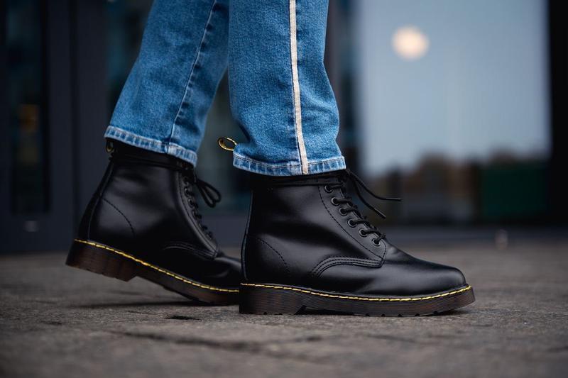 😊dr. martens 1460 black fur🤗 женские ботинки мартинс с мехом ч... - Фото 7