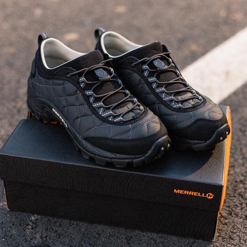 😊merrell ice cap moc 2 black grey🤗 мужские ботинки чёрные осен... - Фото 2