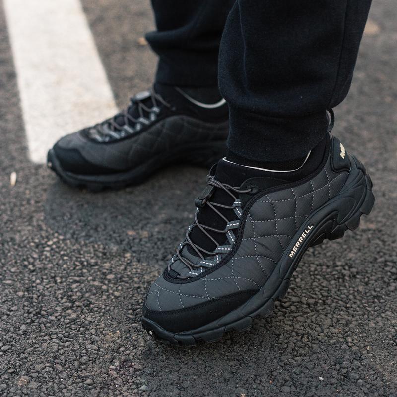 😊merrell ice cap moc 2 black grey🤗 мужские ботинки чёрные осен... - Фото 4