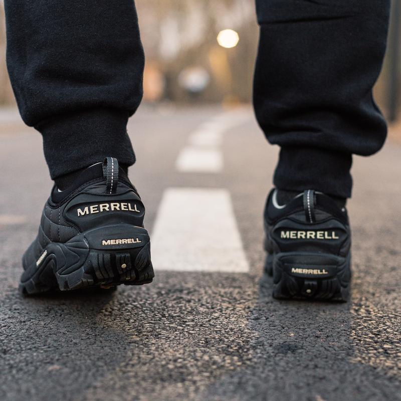 😊merrell ice cap moc 2 black grey🤗 мужские ботинки чёрные осен... - Фото 5